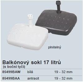 Balkónový sokl 17 litrů Doppler - Antracit