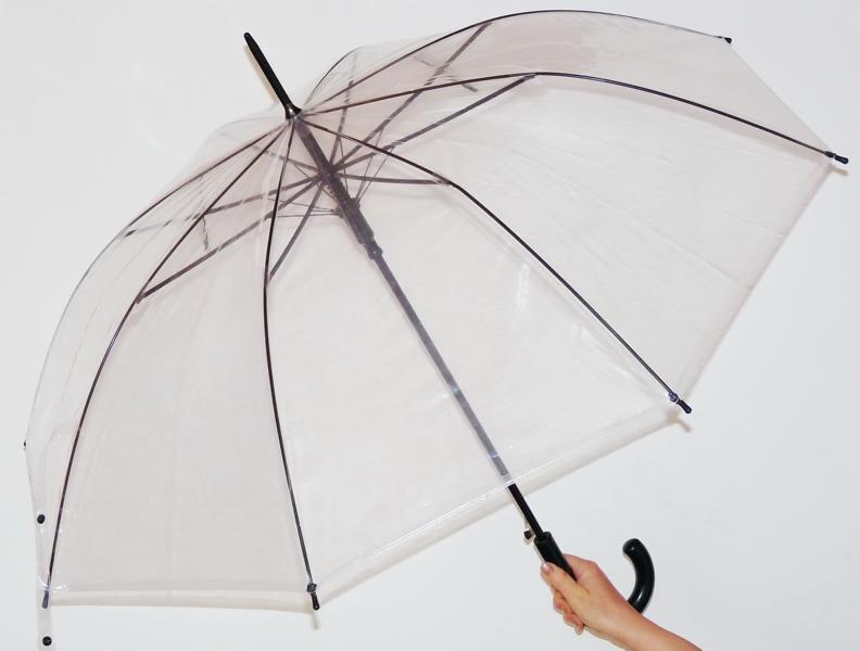 Dámský deštník Hit Lang průhledný vystřelovací DERBY - Doppler