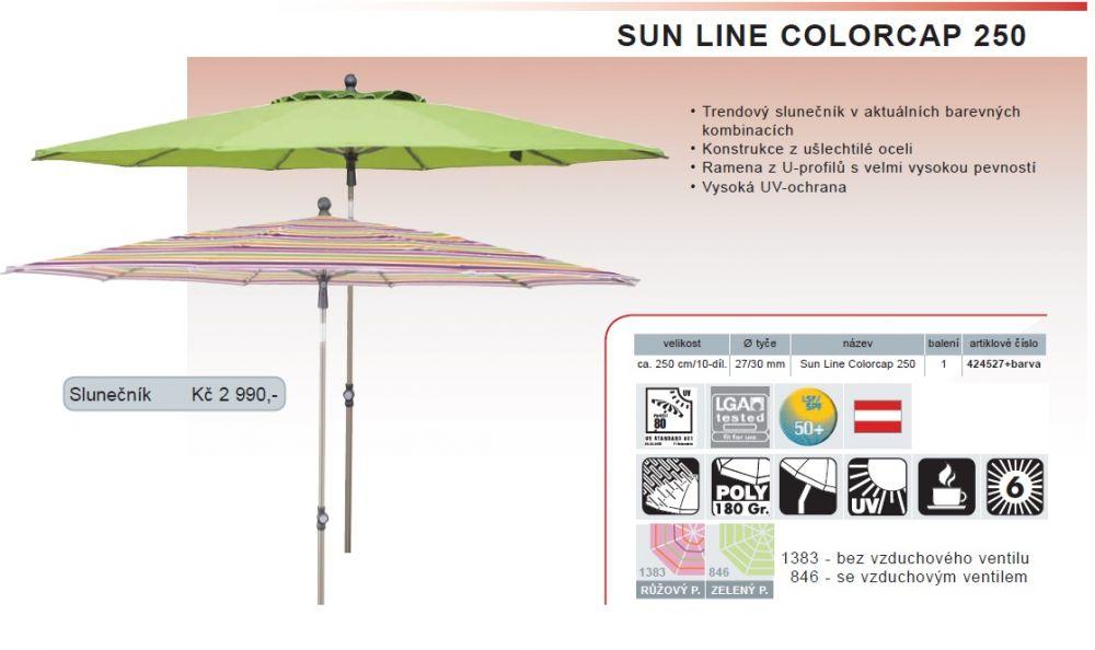 Slunečník Sunline Colorcap 250 cm Doppler